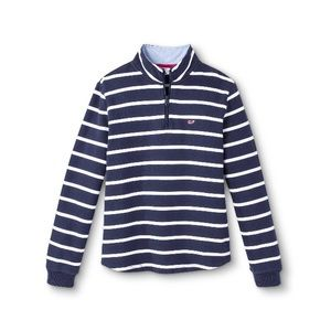 Vineyard Vines fr Target striped 1/4 zip pullover
